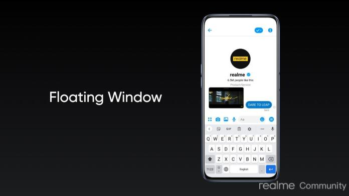 Realme UI 2.0 Update floating window