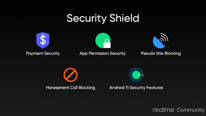 Realme UI 2.0 Update security shield