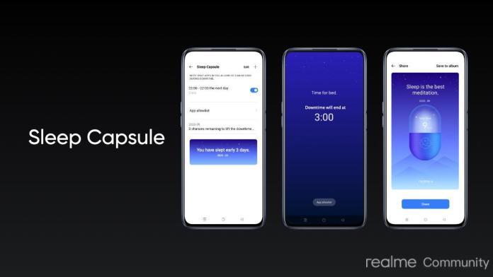 Realme UI 2.0 Update sleep capsule