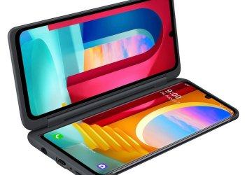 LG Velvet Dual Screen laptop mode