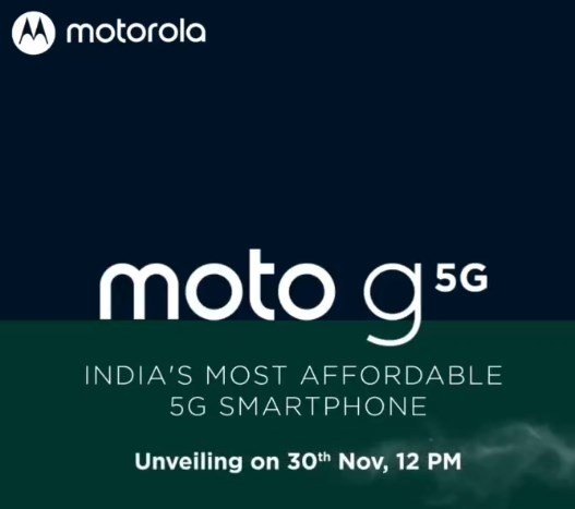 Moto G 5G India Launch Date