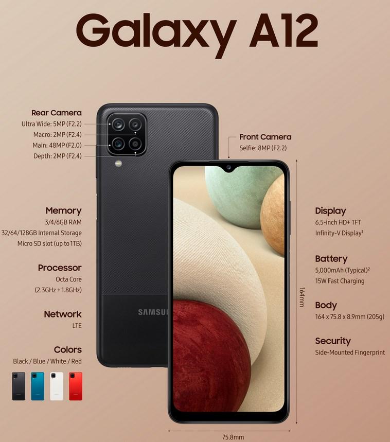 Samsung Galaxy A12 Official