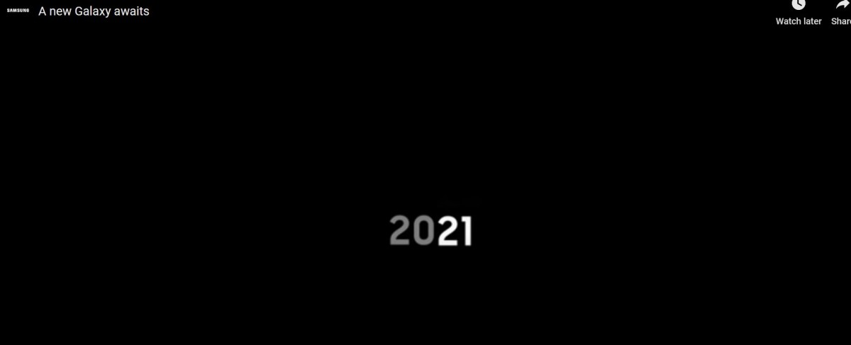 Samsung Galaxy S21 teaser video