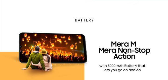 Samsung Galaxy M02 with 5000mAh battery