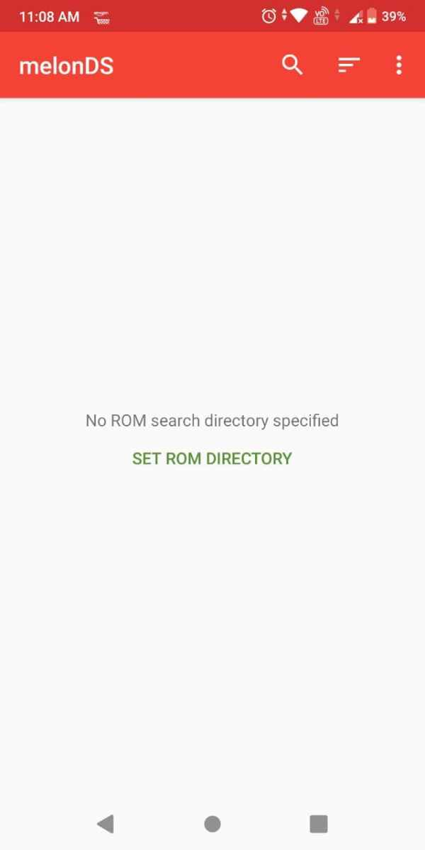 MelonDS Android emulator select rom folder