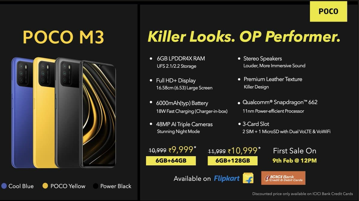Poco M3 price in India