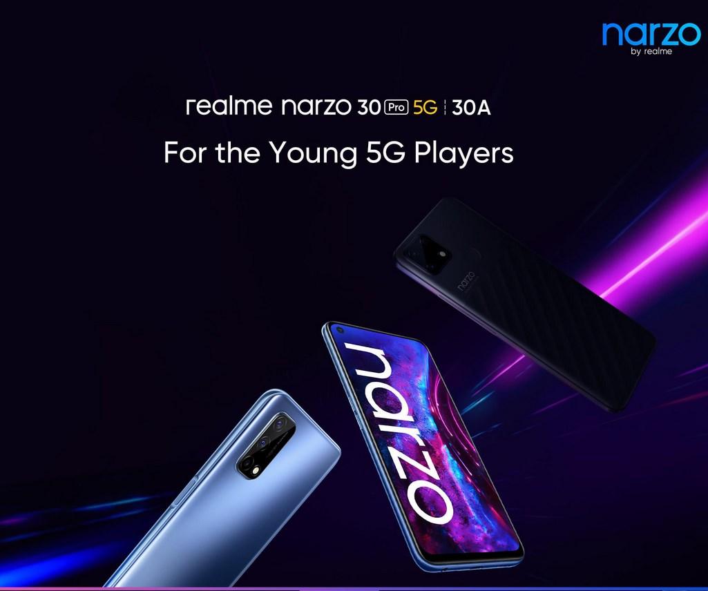 Realme Narzo 30 Pro and Narzo 30A launch date