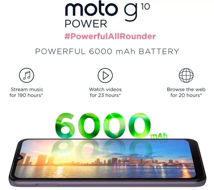 Moto G10 Power battery