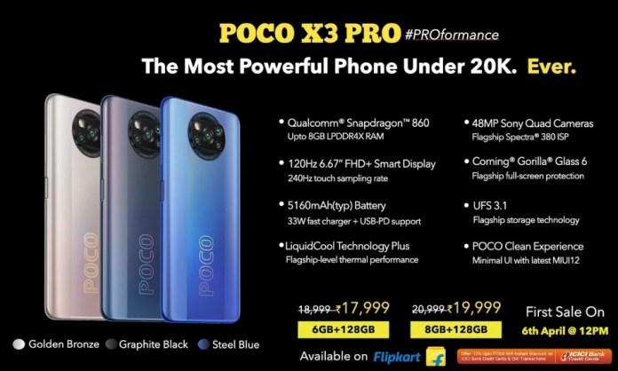Poco X3 Pro price in India