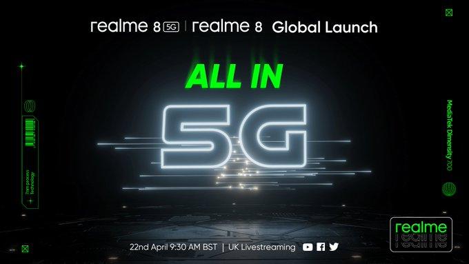 Realme 8 5G launch date