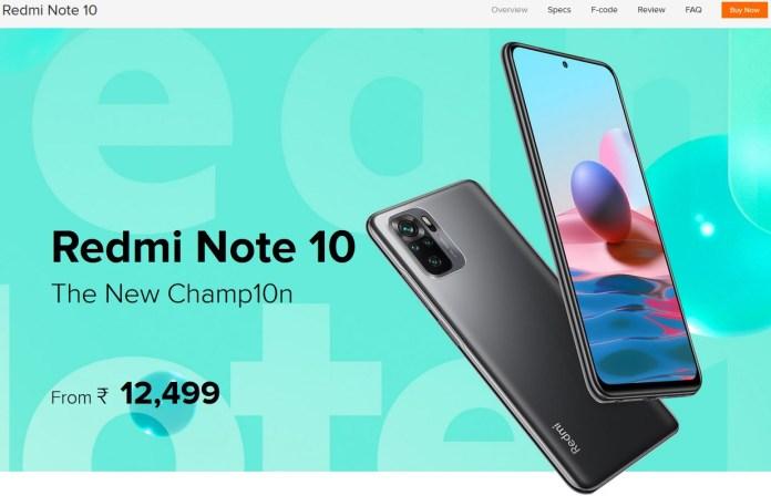 Redmi Note 10 price hike in India