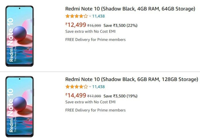 Redmi Note 10 price hiked in India
