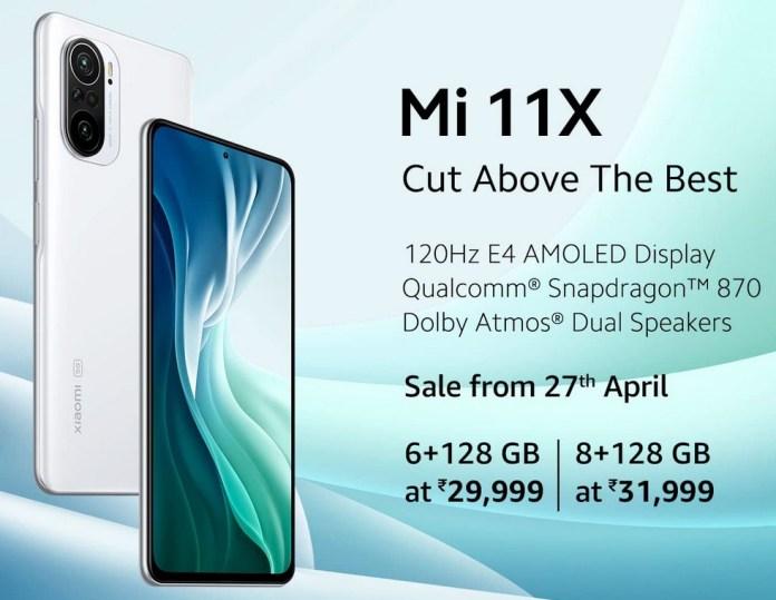 Xiaomi Mi 11X launched in India