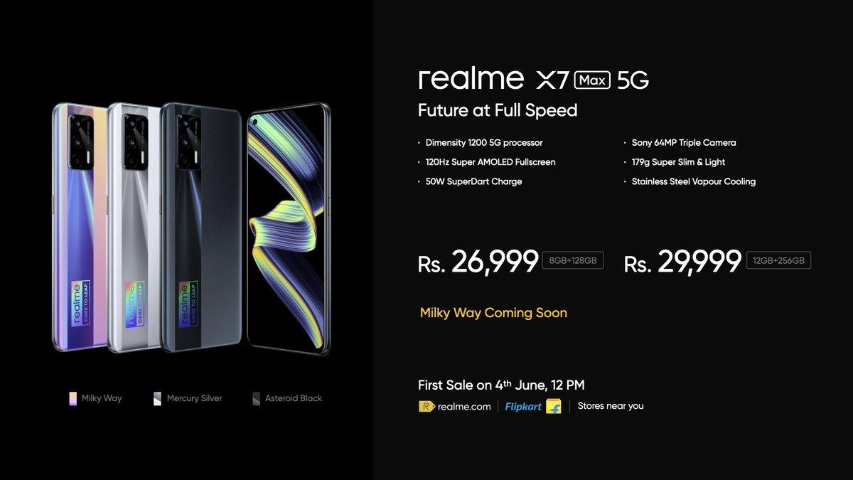 Realme X7 Max 5G price in India