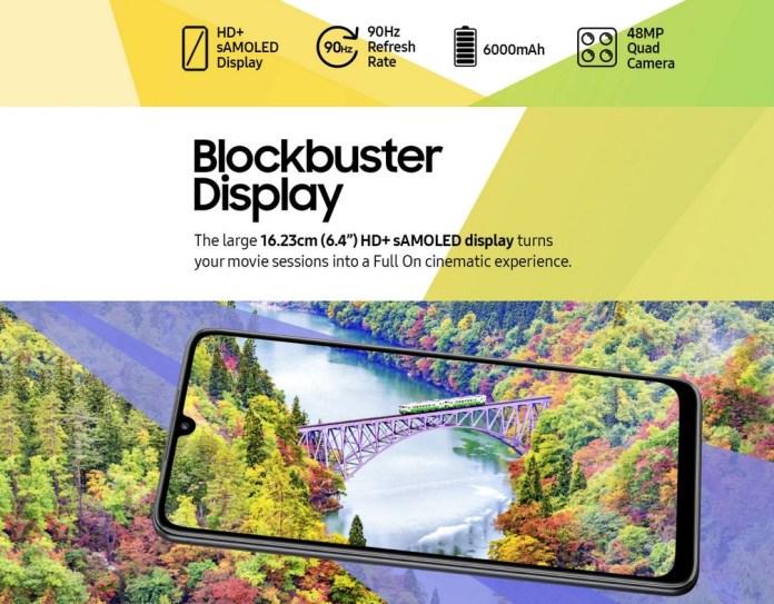 Samsung Galaxy F22 Specs
