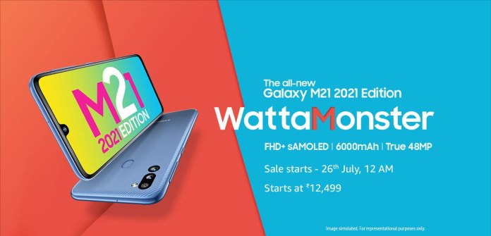 Samsung Galaxy M21 2021 Edition price in India