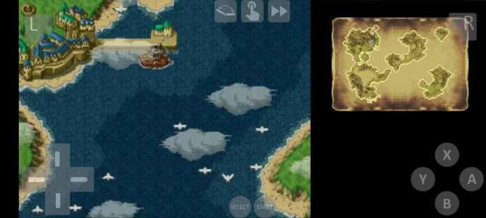 MelonDS emulator landscape mode