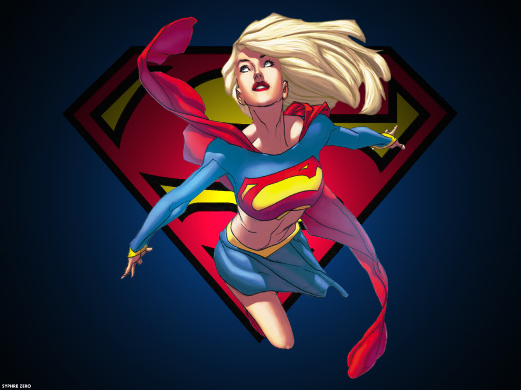 Supergirl-Cartoon - Android Red