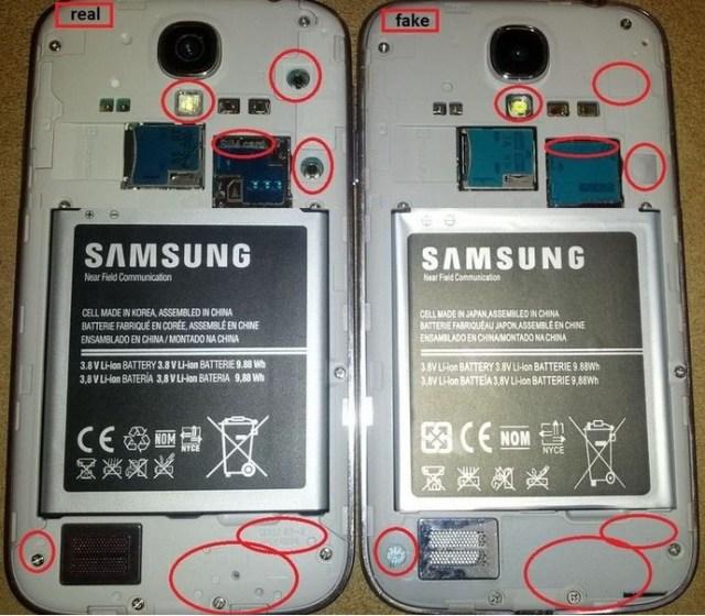 1 Samsung Galaxy S4 Real vs Clona/Replica