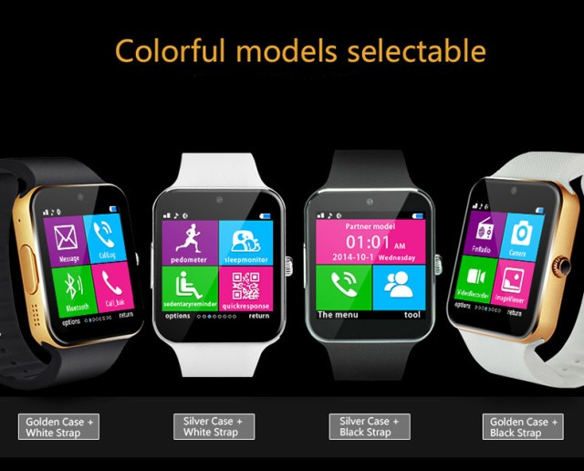201508101028125446 Aiwatch GT08+ smartwatch compatibil Android si IOS aflat la reducere