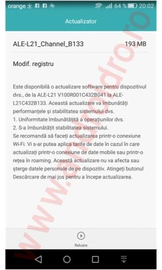 u5rfg Huawei P8 Lite primeste un update de firmware in Romania