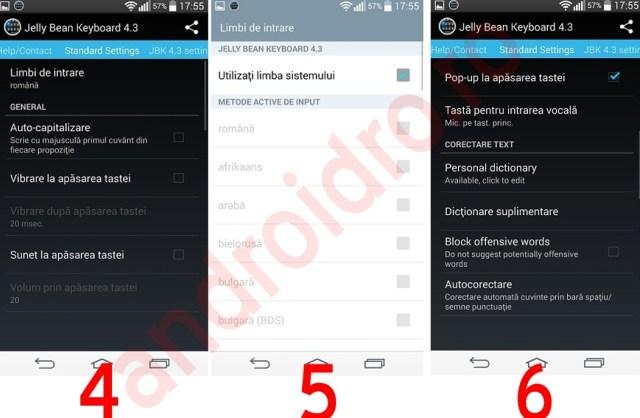 222 Setari tastatura Android