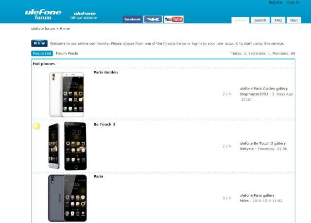 fg Ulefone are de acum un forum deschis si oficial