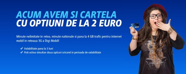 yyy Digi Mobil introduce cartele de la 2E cu minute nelimitate si internet