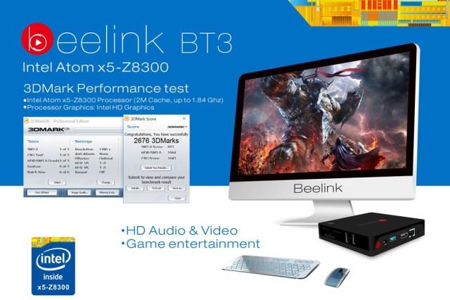 777 Beelink Intel BT3 TV Box de calitate cu procesor Intel si Windows 10