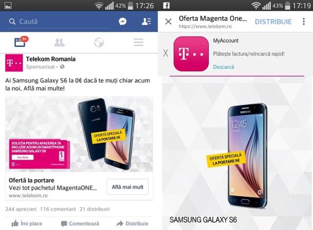 nm Samsung Galaxy S6 oferit gratuit la portatea in reteaua Telekom