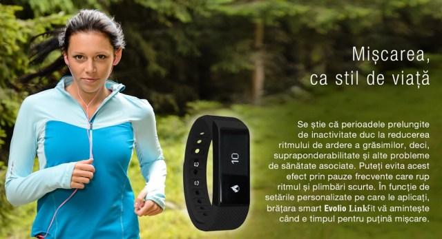 88 Produs nou - bratara fitness Smart Evolio LinkFit cu bluetooth