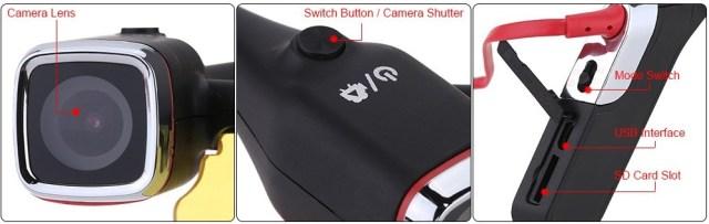 d3379-1-1ouyjyhtr Camera video de actiune FHD Andoer incorporata in ochelari de soare