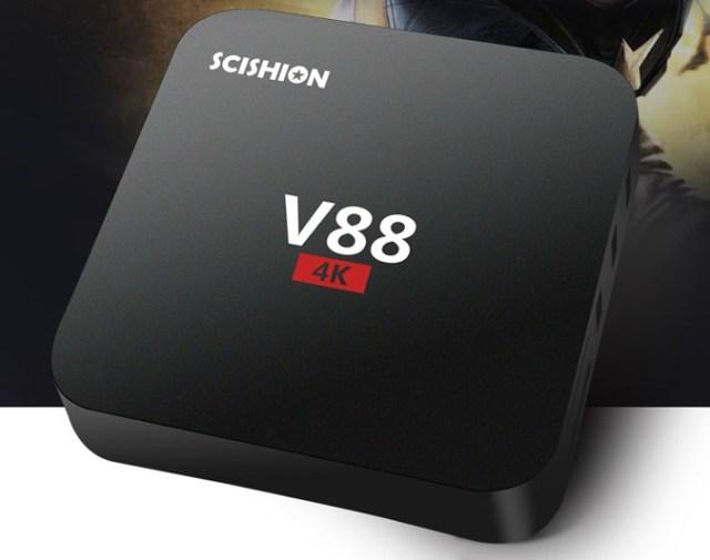 ddedededed SCISHION V88 TV Box cu redare 4K si Android, are un pret chiar mic