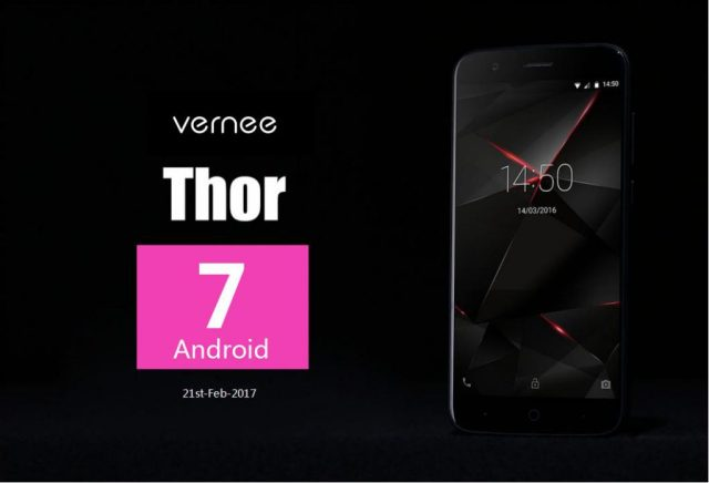Vernee Thor, primul telefon cu MTK 6753 ce primeste Android 7 Nougat