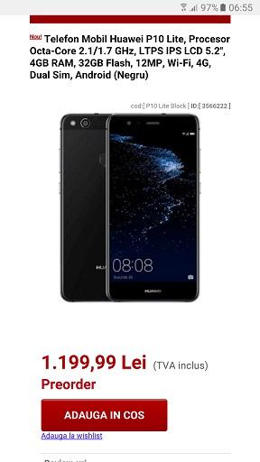 Huawei P10 Lite Huawei P10 Lite pret in Romania la evoMAG, mai mic decat credeam