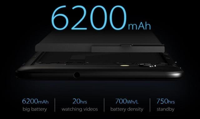 vernee thor plus, baterie de 6200 mah in carcasa de 7.9mm