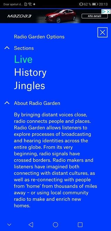o aplicatie foarte buna de radio in 2018, radio garden