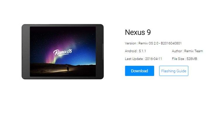 How to Install Remix OS 2.0-Beta-on-Nexus-9,-Nexus-10