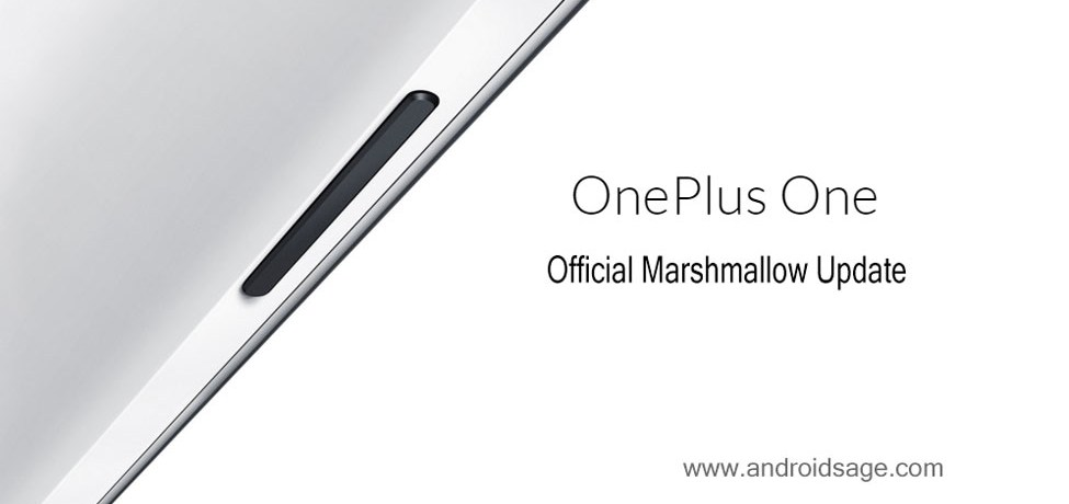 oneplus one official marshmallow update