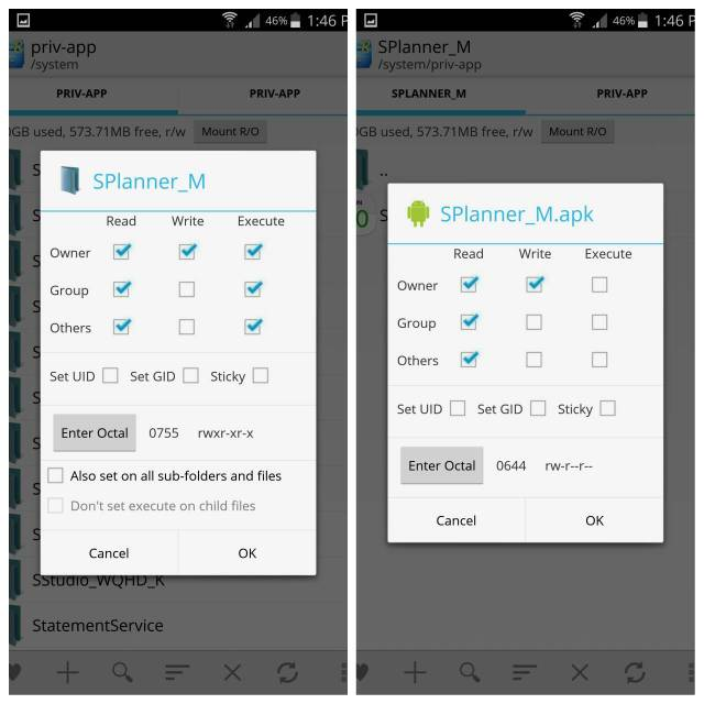 How to set permissions for system apps