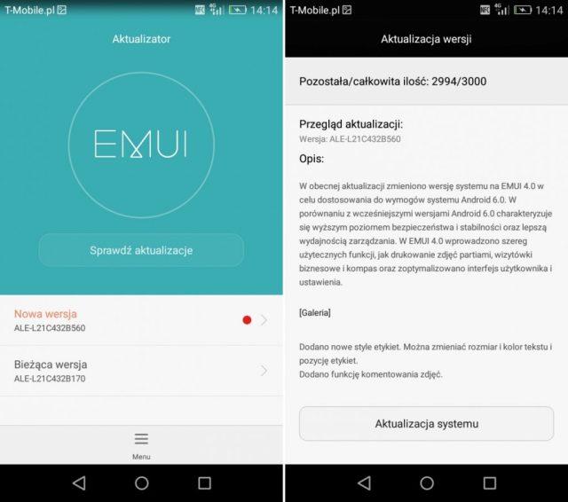 Huawei P8 Lite ALE-L21C432B560 EMUI 4.0 Marshmallow Update