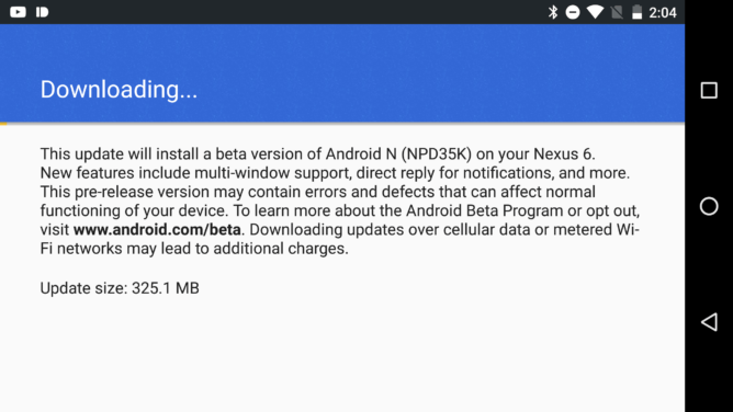 download android n developer preview 3 OTA update and factory image