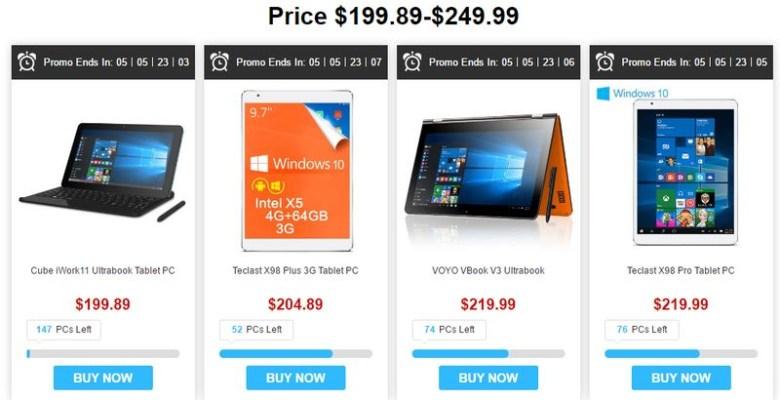 tablets under $200