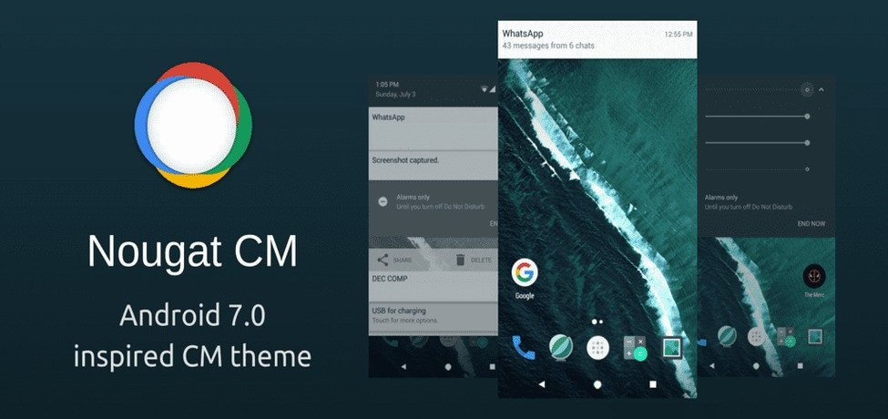 Download Android 7.0 Nougat Theme for Marshmallow