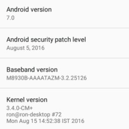 about settings android 7 nougat screenshots