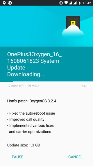 download latest oxygen os 3.2.4 for Oneplus 3