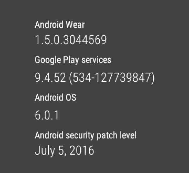 sony smartwatch 3i android 6.0.1 july 5 2016 security update