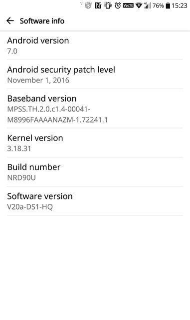 Download LG G5 Android 7.0 Nougat H850-H860N-H830 (V20A)