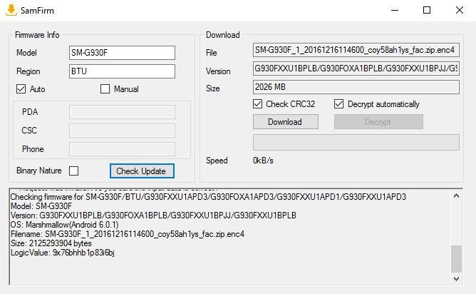 Download latest Galaxy S7 Edge Nougat G935FXXU1DPLT G930FXXU1DPLT stock firmware