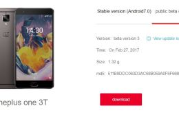 Download H2OS based on Android 7.1.1 Nougat for OnePlus 3-3T Open Beta 12 and 3
